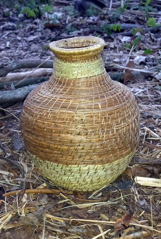Pine Needle Jug; Ways of the Earth Debbie Tremel