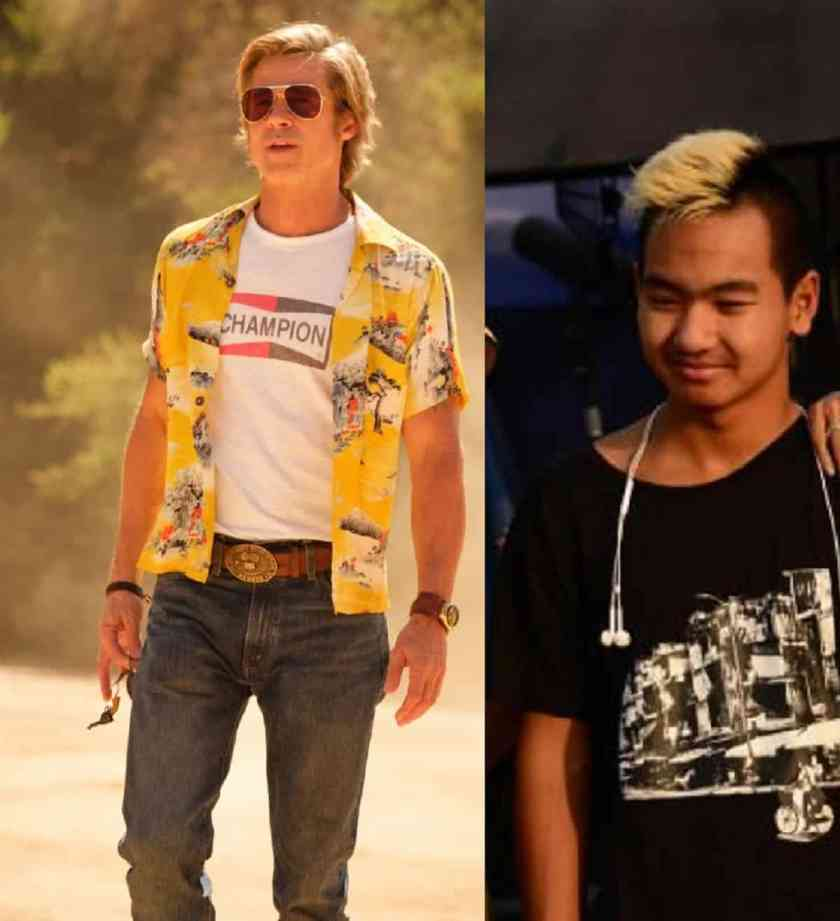 Brad Pitt in Once Upon a Time in Hollywood and Maddox Jolie Pitt in First They Killed My Father.
