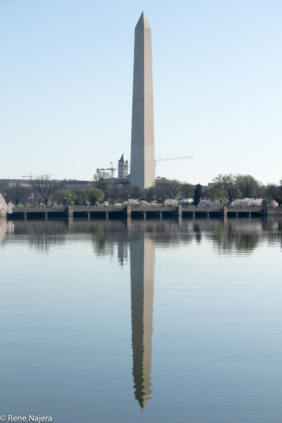 Washington Monument and reflection