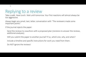 How to conduct or reply to peer review
