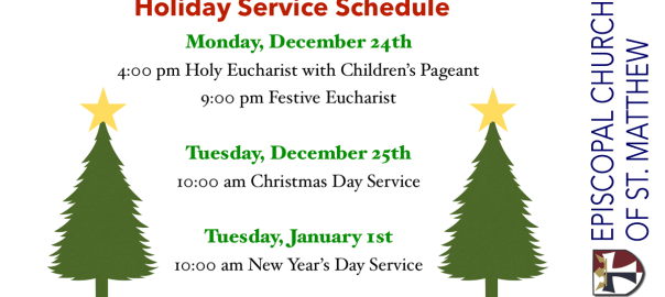 Holiday Service Schedule 2018