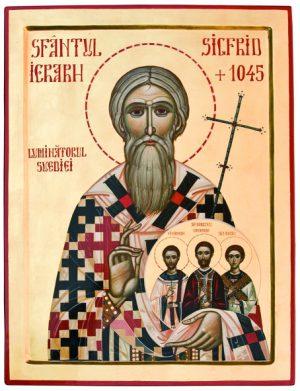 Sfântul Ierarh Sigfrid, Luminătorul Suediei, dimpreună cu Sfinții săi nepoți matiri Unaman Preotul, Sunaman Diaconul și Vinaman Ipodiaconul (15 Februarie)