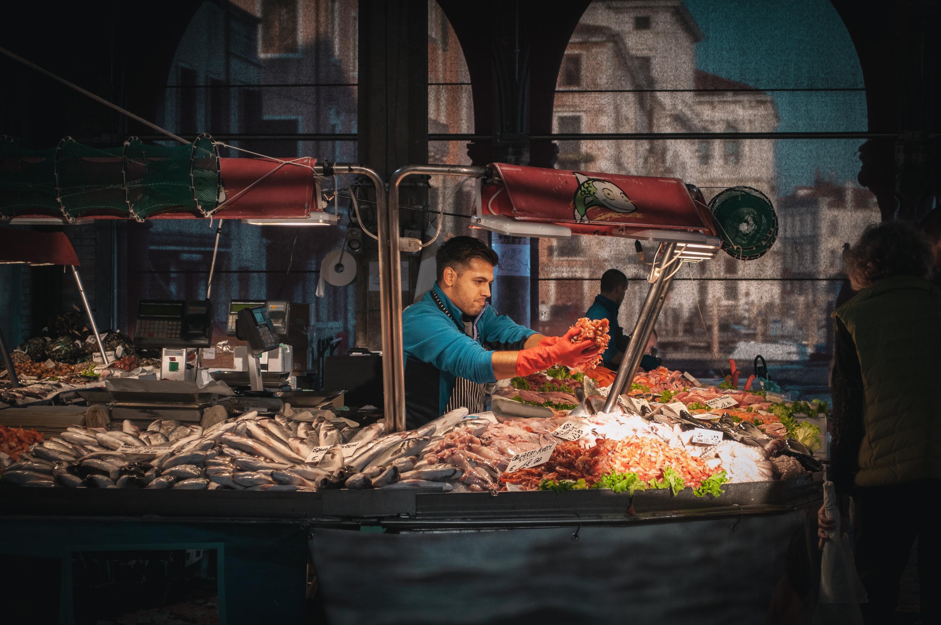 Fish and veggie Market Venice
