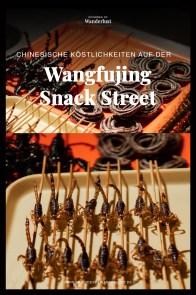 Peking Beijing Wangfujing Snack Street fried insects scorpions
