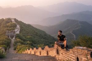 Beijing Chinese Great Wall Große Mauer allein