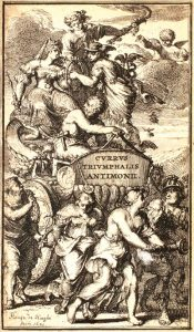 Elements depicted as mythological figures just having a great time.
