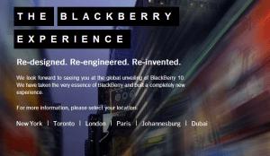 BlackBerry 10 Press Tour