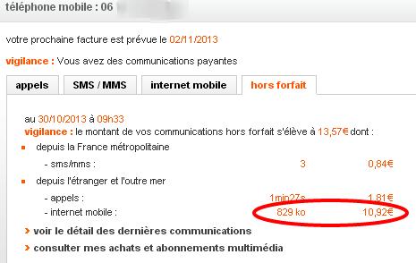 Espace Client Orange   Suivi Conso Détail