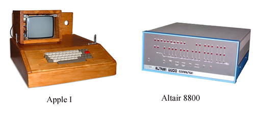 Apple I VS Altair 8800