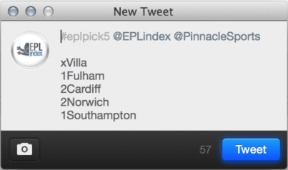 eplpick5 Example Tweet
