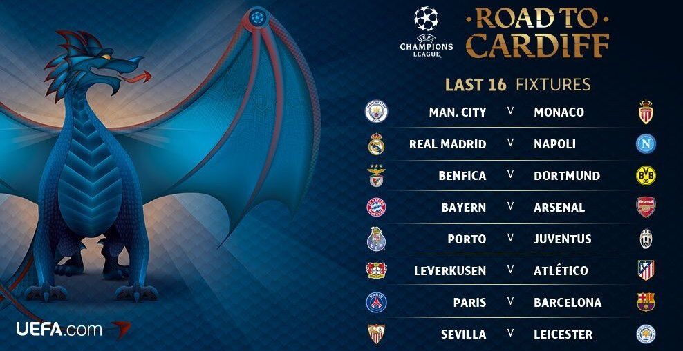 Champions League round of 16 2016