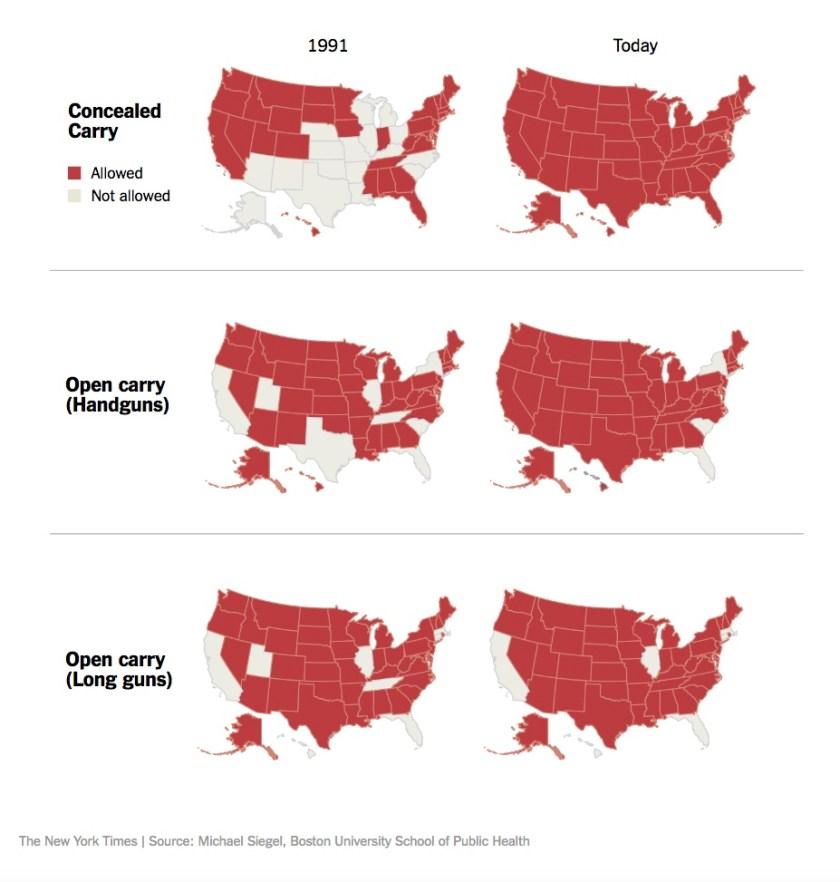 Gun Laws Map - NYT - 2017-11-09