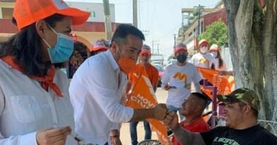 Exitosa jornada de campaña de Movimiento Ciudadano en Tenampa y Totutla.