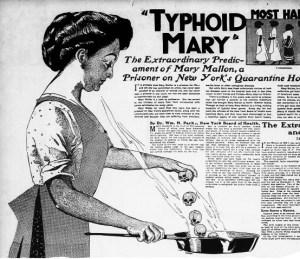 Tyfová Mary: Chodící výrobna tyfu skončí v ostrovním vězení