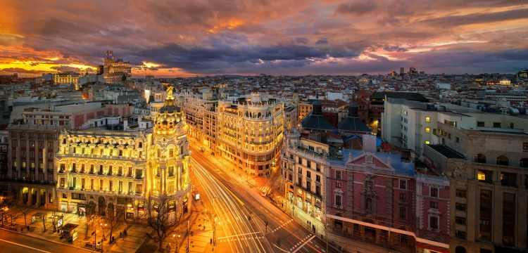 Oslnivá metropole Madrid