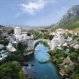 Nádherné fotky: Znovuzrozený Mostarský most v Bosně a Hercegovině