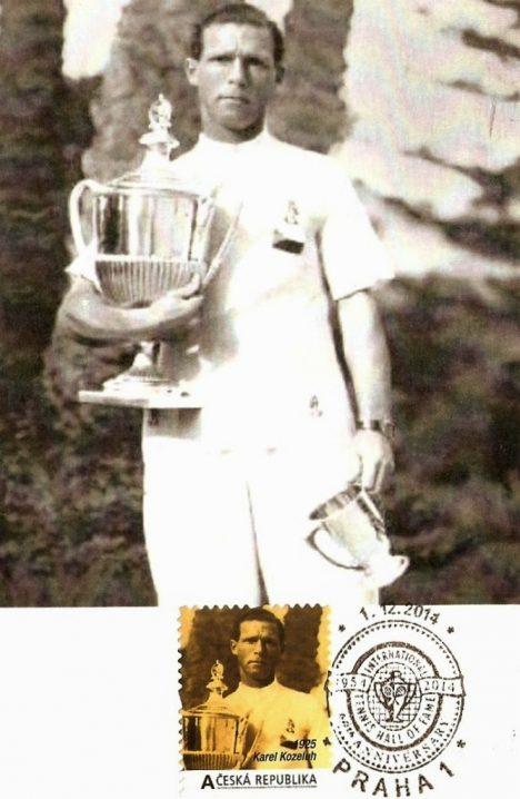 Všestranný sportovec Karel Koželuh váhal mezi fotbalem, hokejem a tenisem.