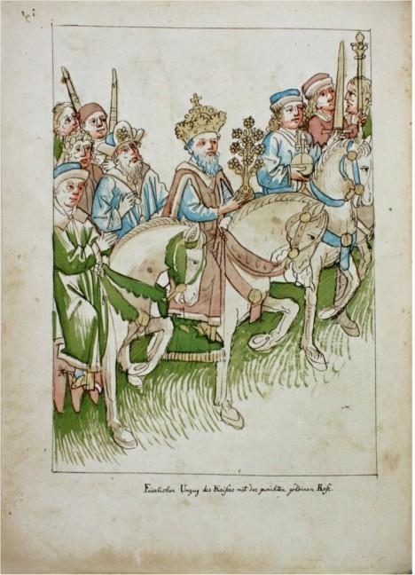 Římský císař Zikmund Lucemburský přijíždí do Kostnice, místa konání koncilu. Chce zjednat v církvi pořádek.