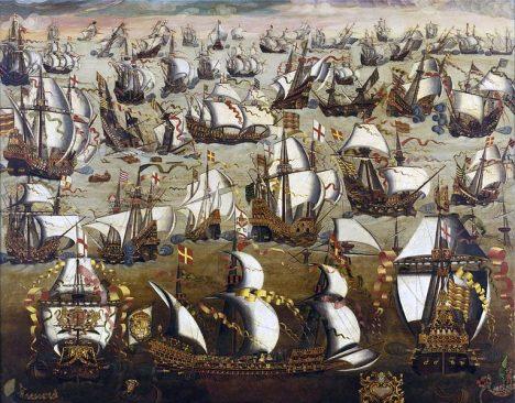 Španělská Armada doplní francouzské loďstvo. Ani spojenými silami ale Anglii nedobudou.