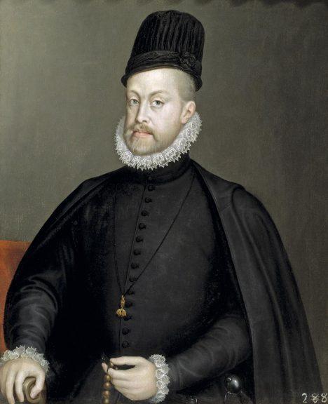 Španělský král Filip II. si dělá zuby na Anglii, podcení ale sílu jejího loďstva.