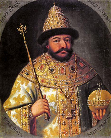 Ruskému carovi Borisi Godunovi zlomí vaz neúroda následkem sopečného výbuchu.