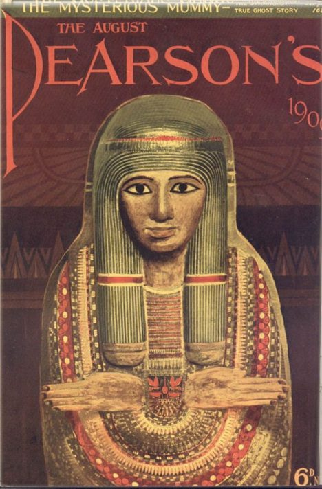 Cover of Pearson's Magazine in 1909 featuring the story of the mummy.