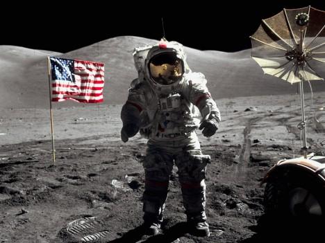 Astronaut Eugene Cernan on the Apollo 17 mission
