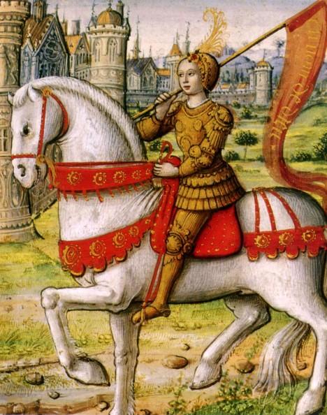 Ještě než se stane masovým vrahem je Gilles věrným přítelem francouzské národní hrdinky Johanky z Arku.