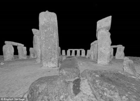 Stonehenge pohledem laserového scanneru.