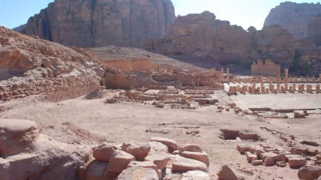 The monumental 2,000-year-old pool in Petra, a waste of water that was a sign of sheer power in the desert. Leigh-Ann Bedal read more: http://www.haaretz.com/jewish/archaeology/1.744119