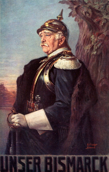 Otto von Bismarck portrait after A Fischer Prussian politician 1815-1898. Became leader of Germany after unification (Photo by Culture Club/Getty Images)