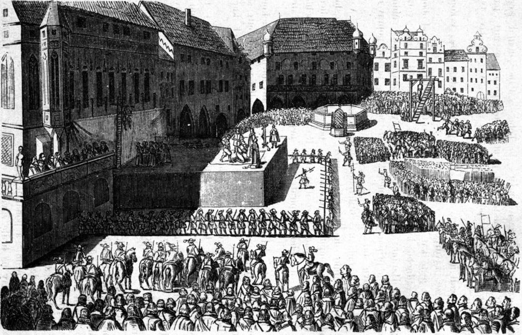 Při exekuci na dnešním Staroměstském náměstí je poporaveno 27 vůdců povstání. Ten dvacátýosmý už je mrtvý.