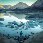 Dočasná krása: Mizející jezero u Tasmanova ledovce