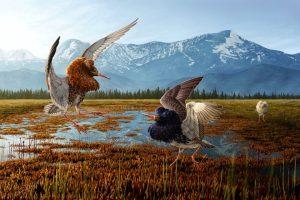 Digitální ilustrace zachycující přírodu