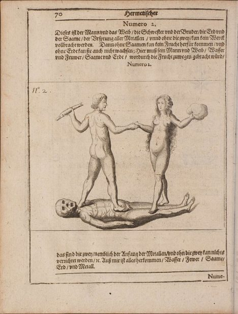 Images from 'Hermetischer Probier Stein..' 1647, by Oswald Croll (Kroll or Crollius)