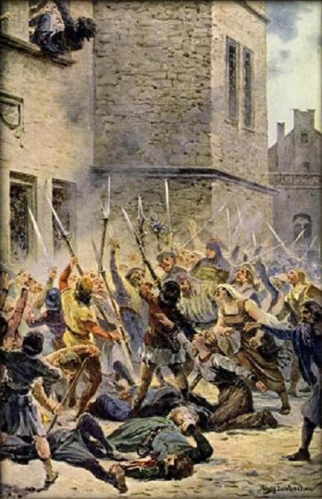30. července 1419. Defenestrace na pražské Novoměstské radnici se zúčastní i Jan Žižka.
