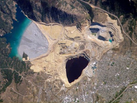 Berkeley Pit and Yankee Doodle tailings pond: Butte, Montana