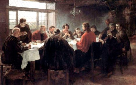 5 - Ztvárnění Kristovy poslední večeře na obrazu německého výtvarníka Fritze von Uhdeho