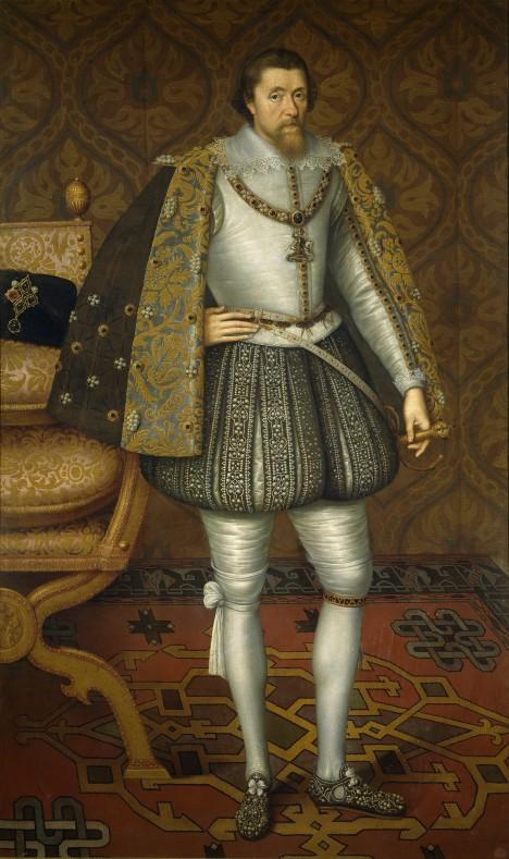 Anglický král Jakub I. Stuart si objedná překlad bible.