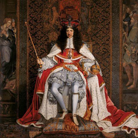 Anglický král Karel II. Stuart zloději nakonec udělí milost.