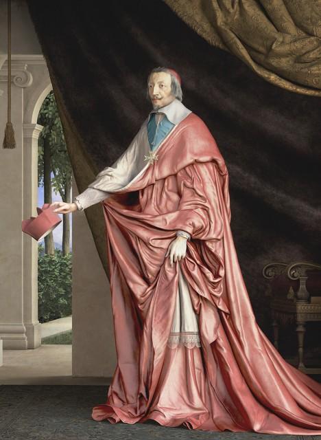 Armand Jean du Plesis de Richelieu sice korupčníky trestá, ale sám přitom vesele uplácí.