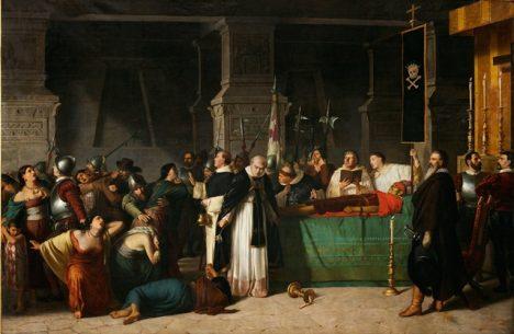 Popravený Atahualpa.