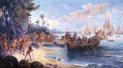 Cabral přistává v Brazílii. Někteří historici jsou přesvědčeni, že Portugalci o existenci Jižní Ameriky věděli už dříve a k jejímu objevení tudíž nedošlo omylem, důkazy však chybí.