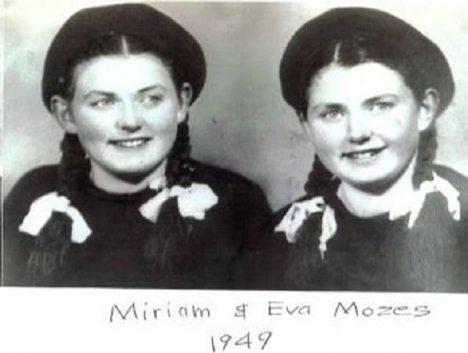 Dvojčata, děvčata Mozesovy, jedny z obětí Mengeleho řádění.