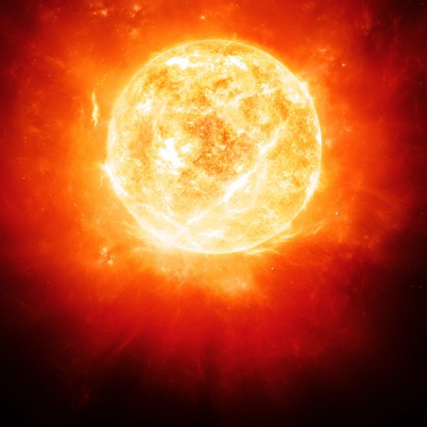 Teplota na povrchu Betelgeuse, který je dvacetkrát těžší než Slunce, je 3200 °C