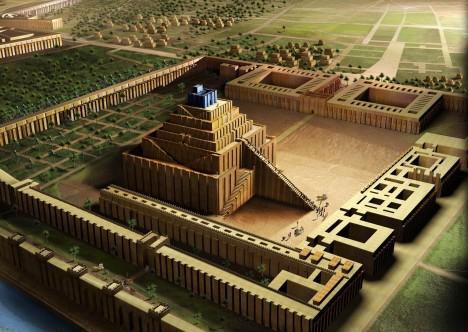 V centru města stálo čtyřicet chrámů včetně ohromného zikkuratu, který mohl být předlohou babylonské věže.