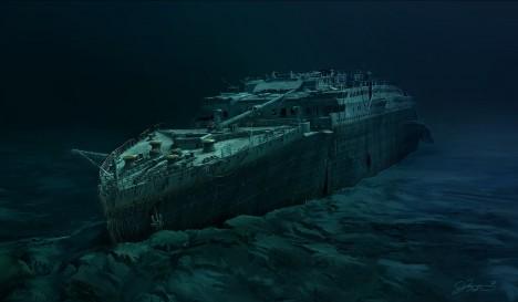 Loď se při potopení rozlomila a vrak klesl do hloubky 3784 metrů, vrak objevil americký oceánograf Robert Ballard 1. září 1985.