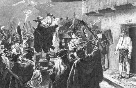 Kromě Katzenmusik se v Německu uchytila také tradice Haberfeldtreiben. Šlo o veřejné provolávání hříchu, které se nejčastěji týkalo početí mimo manželský svazek.
