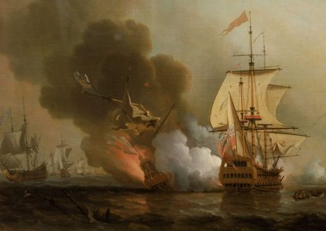 San José zasáhla plná salva z boku Expeditionu a ta ji v podstatě rozmetala na kousky. Z 600 námořníků přežilo jen 11.