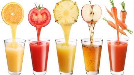 Ideální náhradou za sycené nápoje jsou džusy z vylisovaných čerstvých plodů ovoce i zeleniny.